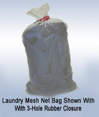 Net Bag with Rubber Closure
