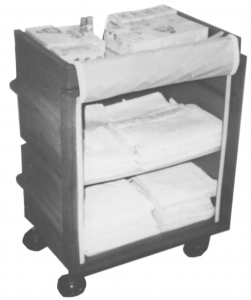 2 Shelf Poly Utility Cart