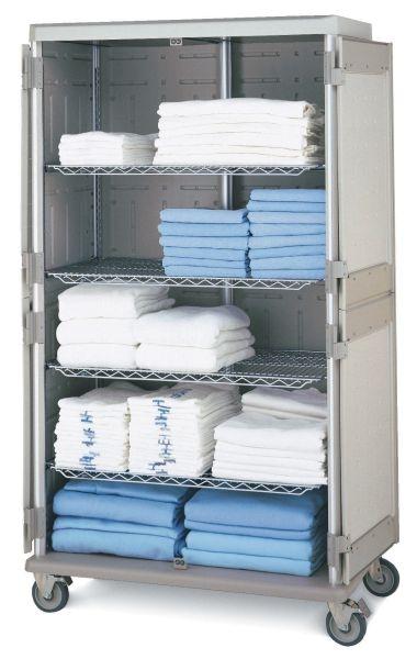Enclosed Linen Exchange Carts Laundry Transport